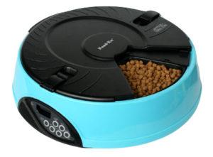 Автоматическая кормушка на 6 кормлений для кошек и мелких пород собак . Цвет голубой.