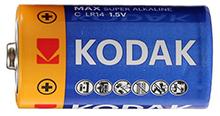 """Батарейки KODAK """"С"""" (LR14) для автокормушек PF1, PF2, PF6, PF7 и FF01G."""